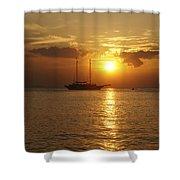 Breathtaking Sailboat Ocean Sunset #0182 Shower Curtain