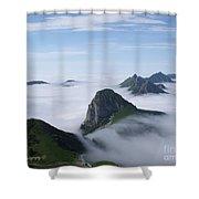 Breathtaking View From Rochers De Naye Shower Curtain