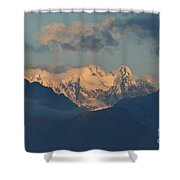 Breathtaking View Of The Italian Alps With A Cloudy Sky  Shower Curtain