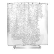 Breckenridge Mountain Art Print Contour Map Of Breckenridge Moun Shower Curtain