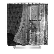 Breeze - Black And White Shower Curtain