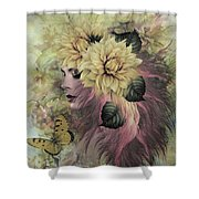 Breeze Blowing With Fragrance Shower Curtain