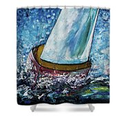 Breeze On Sails -2  Shower Curtain