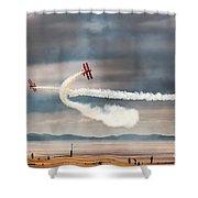 Breitling Wingwalker Biplanes Shower Curtain