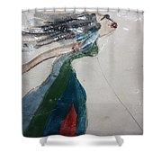 Brenda - Tile Shower Curtain