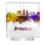 Brescia Skyline In Watercolor Shower Curtain