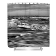 Brethamerkursandur Iceberg Beach Iceland 2155 Shower Curtain