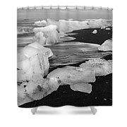 Brethamerkursandur Iceberg Beach Iceland 2319 Shower Curtain