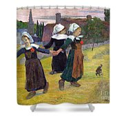 Breton Girls Dancing Pont-aven Shower Curtain