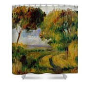 Breton Landscape Trees And Moor 1892 Shower Curtain