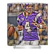 Brett Favre Minnesota Vikings Shower Curtain