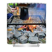 Brewing Outdoors Shower Curtain