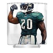 Brian Dawkins - Philadelphia Eagles Shower Curtain