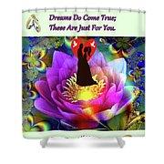 Brian Exton Sacred Flower Of Love  Bigstock 164301632  2991949  12779828 Shower Curtain