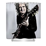 Brian May Of The Rock Group Queen Shower Curtain