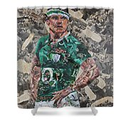 Brian O'driscoll Collage Shower Curtain
