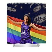 Briann January Lgbt Pride 2 Shower Curtain