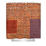 Brick Abstract Shower Curtain