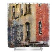 Brick Alley Shower Curtain