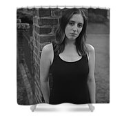 Brick And Field Shower Curtain