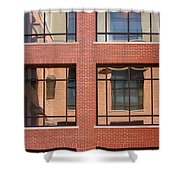 Brick Building Shower Curtain