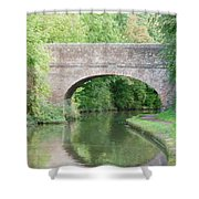 Brick Canal Bridge  Shower Curtain