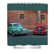 Brick Parking  Shower Curtain