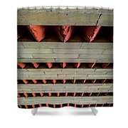 Brick Patterned Abstract Shower Curtain