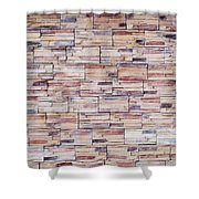 Brick Tiled Wall Shower Curtain