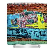 Brick Train Shower Curtain