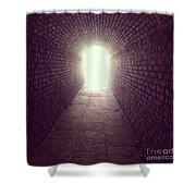 Brick Tunnel  Shower Curtain