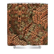 Bricks And Mortar Shower Curtain by Lyle Hatch
