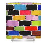 Bricks Of Life Shower Curtain