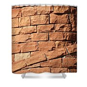 Bricks Spiraling Shower Curtain