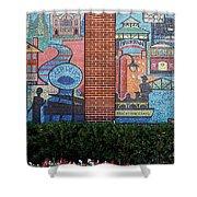 Bricktown Mosaics Shower Curtain