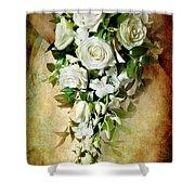 Bridal Bouquet Shower Curtain by Meirion Matthias