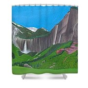 Bridal Veil And Ingram Falls Shower Curtain
