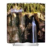 Bridal Veil Falls Power Plant - Telluride - Colorado Shower Curtain
