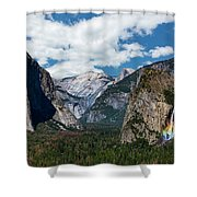 Bridal Veil Falls Rainbow Shower Curtain
