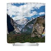 Bridal Veil Falls Rainbow Shower Curtain