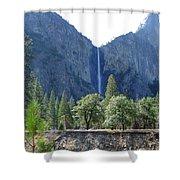 Bridal Veil Yosemite Shower Curtain