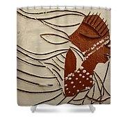 Bride 11 - Tile Shower Curtain