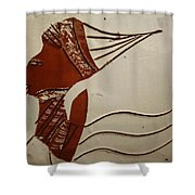Bride 3 - Tile Shower Curtain