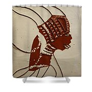 Bride 4  - Tile Shower Curtain