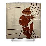 Bride 9 - Tile Shower Curtain