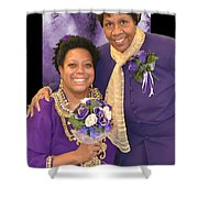 Bride And Aunt  Shower Curtain