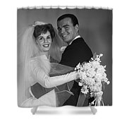 Bride And Groom, C.1960s Shower Curtain