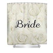 Bride Floral Design- Cream White Shower Curtain