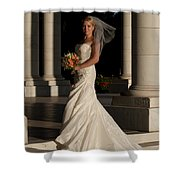 Bride In A Park Shower Curtain