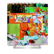 Bride Of Frankenstein In Abstract Cubism 20170402 Shower Curtain